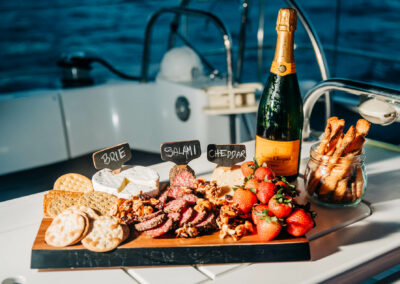 Snacks on board your st kitts nevis yacht charter