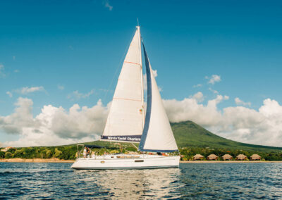 book a private sail and snorkeling trip off the coast of nevis west indies