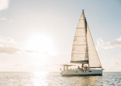 book a sunset sail in the waters around st kitts and nevis