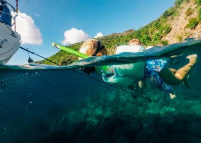 Waterbabies snorkeling St Kitts & Nevis