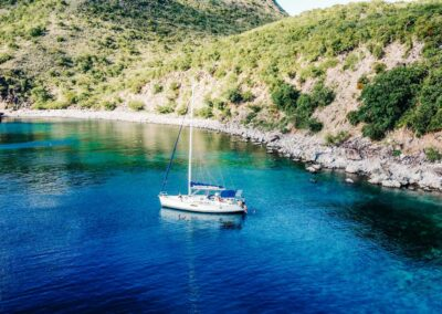 Nevis Yacht Charters off the coast of St Kitts and Nevis