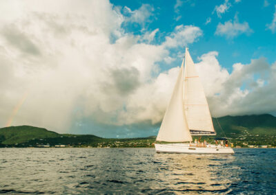 private yacht charters in the waters of st kitts and nevis
