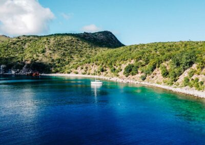 A quiet and secluded cove to snorkel in St Kitts & Nevis