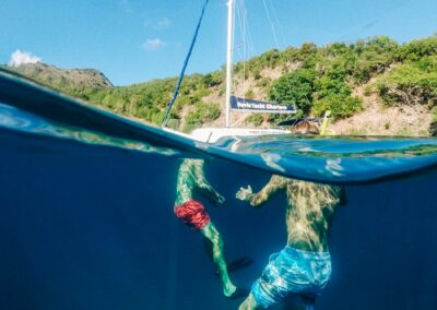 Private Snorkeling and sailing charters in St Kitts & Nevis