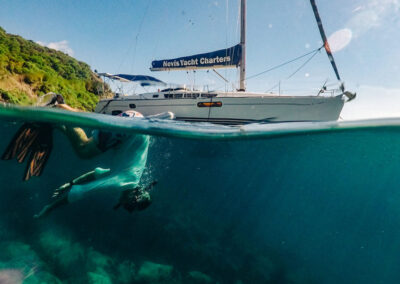 Snorkeling and sailing in St Kitts & Nevis