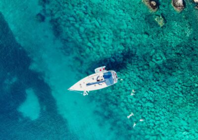 Nevis Yacht Chyarters from above