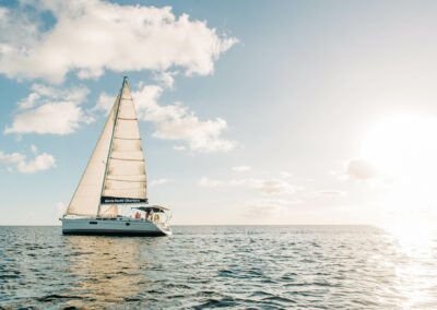 watch the sunset in st kiitts and nevis on your own private yacht charter